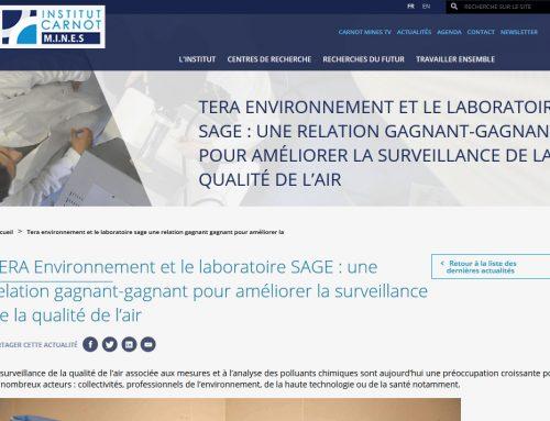 Article Institut Carnot M.I.N.E.S | TERA Environnement et le laboratoire SAGE : une relation gagnant-gagnant […]