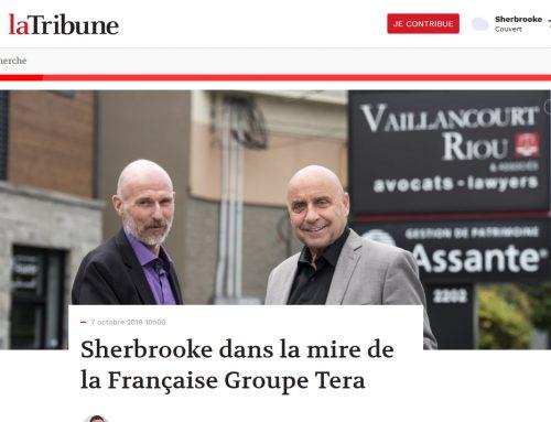 Article La Tribune | Sherbrooke dans la mire de la Française Groupe Tera
