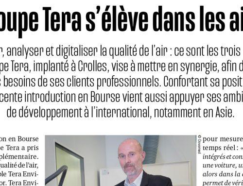 Article Les Affiches de Grenoble et du Dauphiné | Groupe TERA s'élève dans les airs